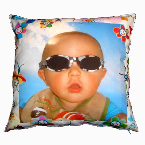 Almofada com foto de bebê