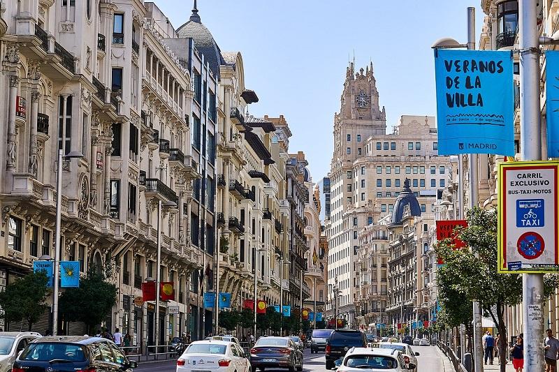 Avenida Gran Via em Madri | Espanha