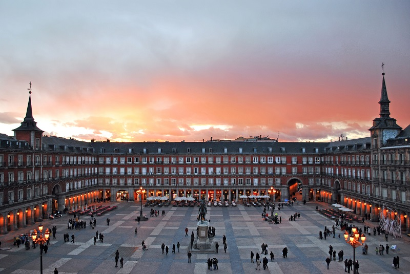 Praça Plaza Mayor em Madri | Espanha