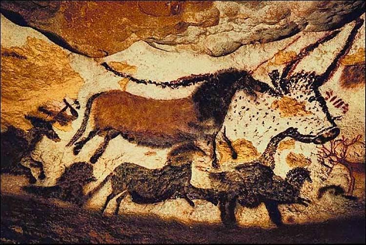 Pinturas nas cavernas de Lascaux na França