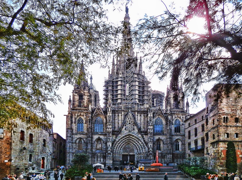 Catedral de Barcelona na Espanha