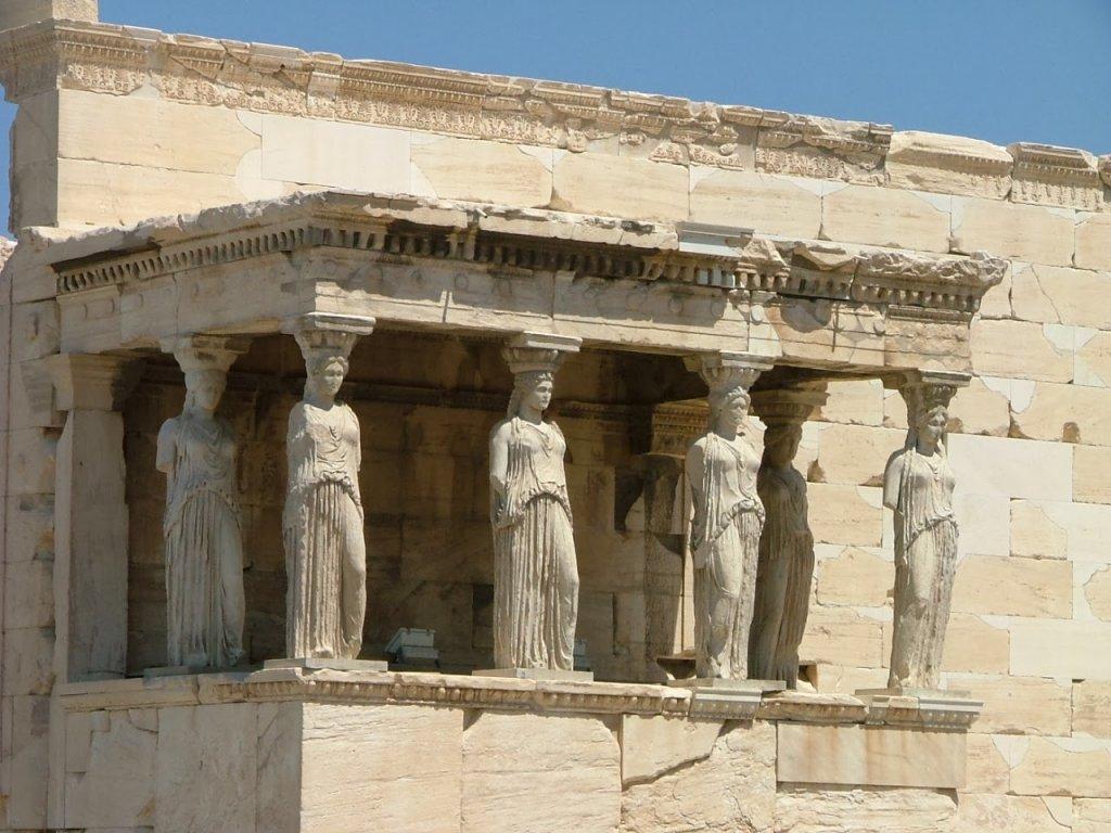 Templo Erecteion em Atenas na Grécia