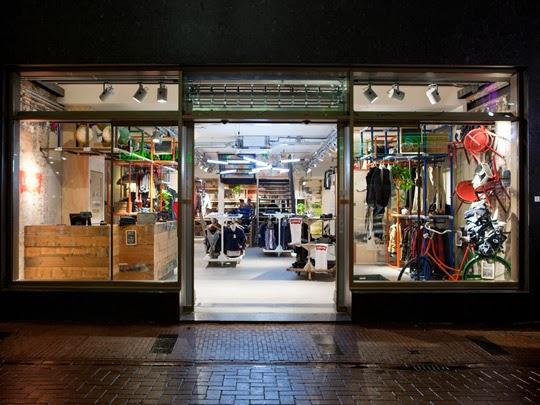 Loja de roupa no bairro Jordan em Amsterdam