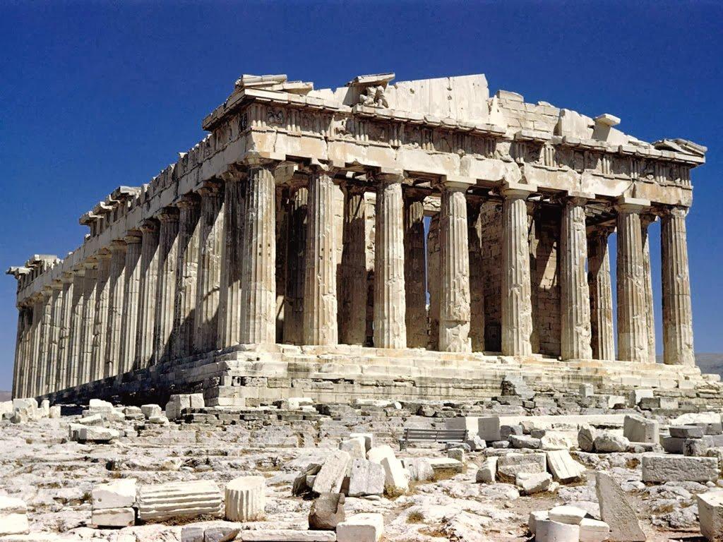 Pártenon em Atenas na Grécia