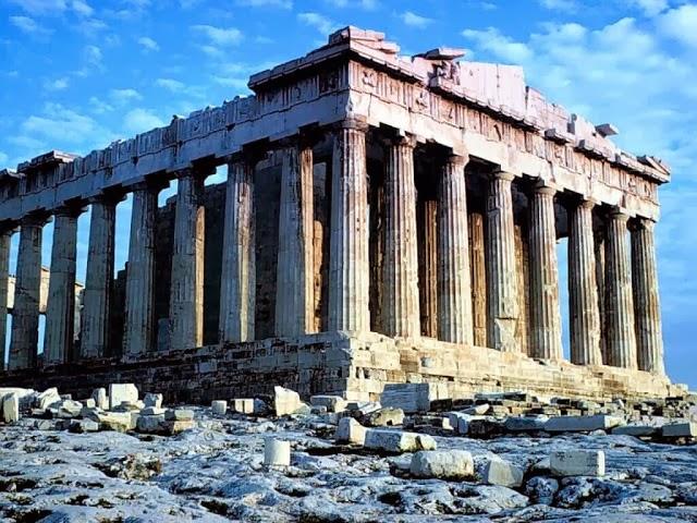 Templo Pártenon em Atenas na Grécia