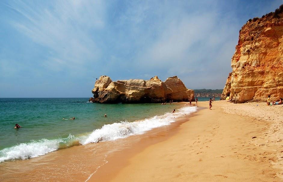 Praia da Rocha em Algarve