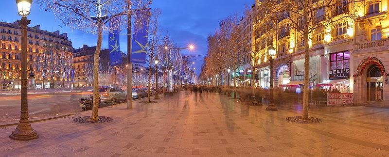 Estabelecimentos na Champs-Elysées em Paris