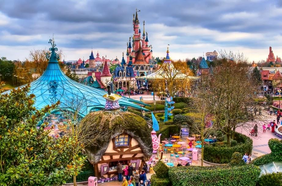 Fantasyland na Disneyland Paris na França