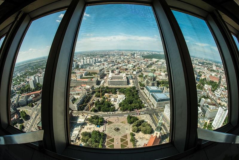 Vista da Torre Berliner Fernsehturm