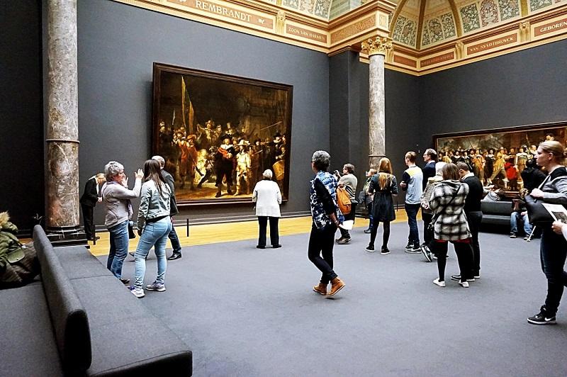 Obras expostas no Museu Rijksmuseum em Amsterdam