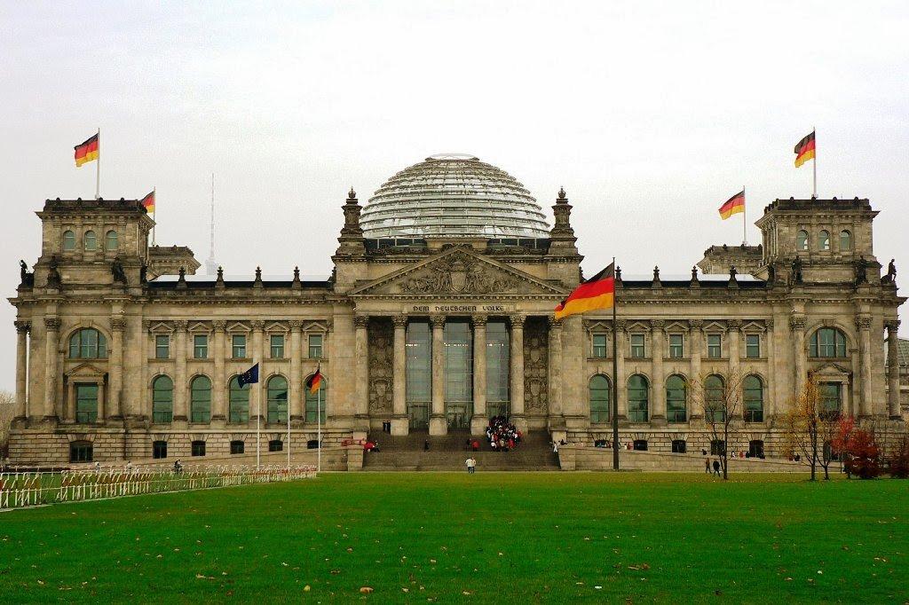 Prédio Reichstag em Berlim na Alemanha