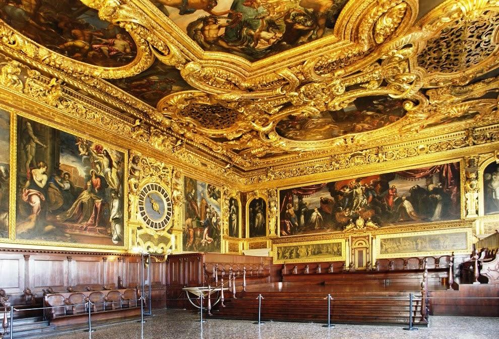 Interior do Palácio Ducale em Veneza