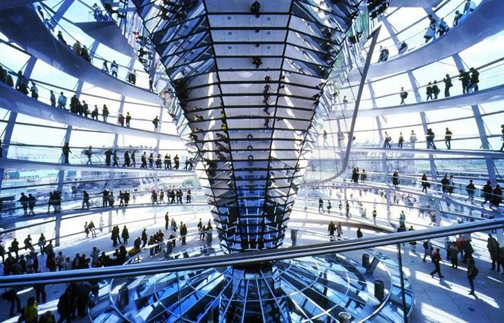 Prédio Reichstag em Berlim | Interior