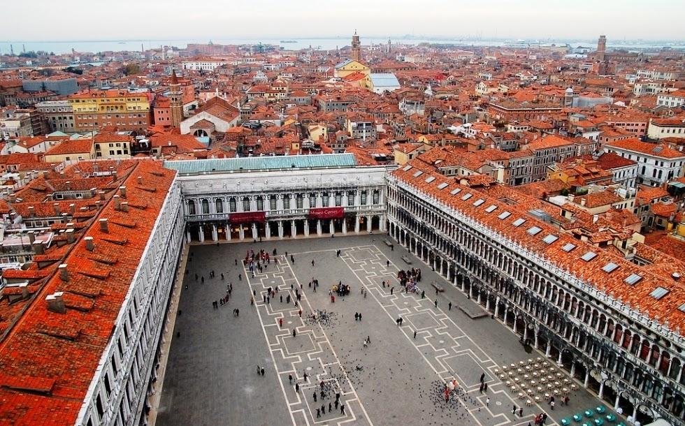 Vista da Torre Campanille di San Marco em Veneza