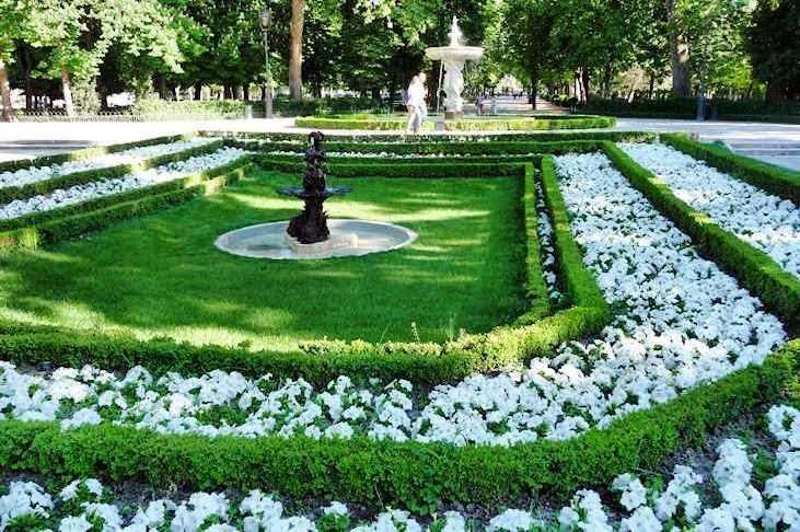 Jardins do Retiro de Madrid no Parque del Retiro