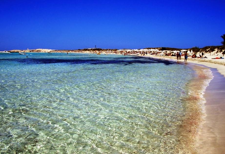Praia de Figueretas em Ibiza