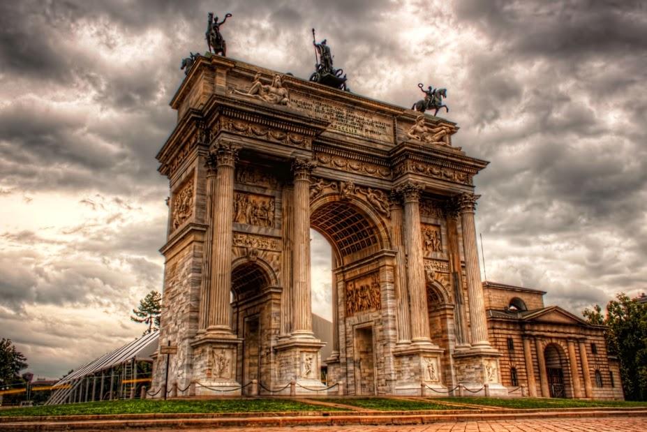 Arco della Pace no Parque Sempione em Milão