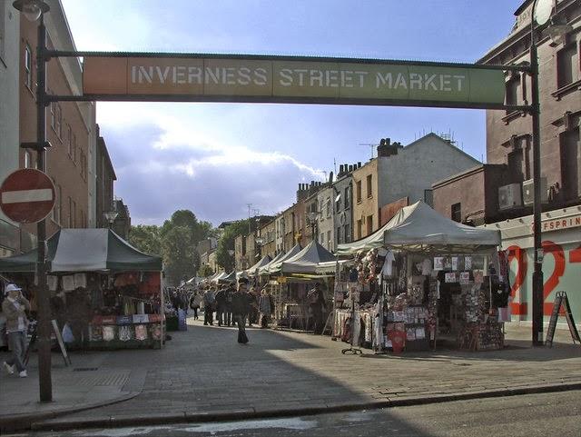 Inverness Street Market em Camden Town