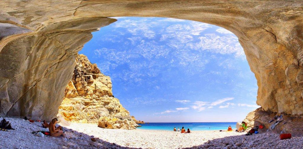Ilha Ikaria na Grécia