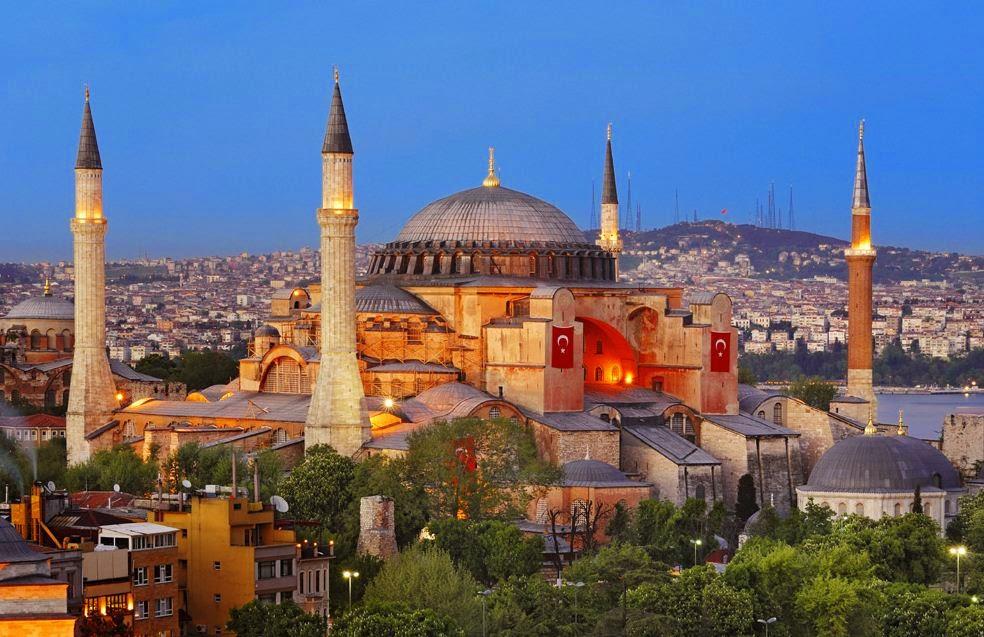 Mesquita Hagia Sofia em Istambul na Turquia