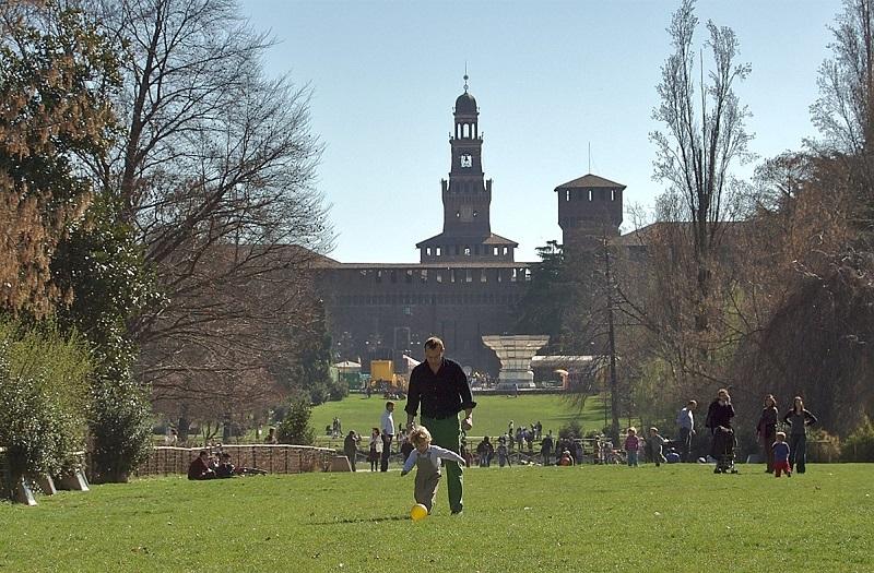 Parque Sempione em Milão   Itália