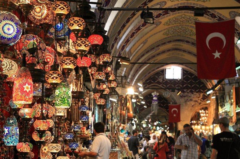 Mercado Grande Bazar de Istambul   Turquia
