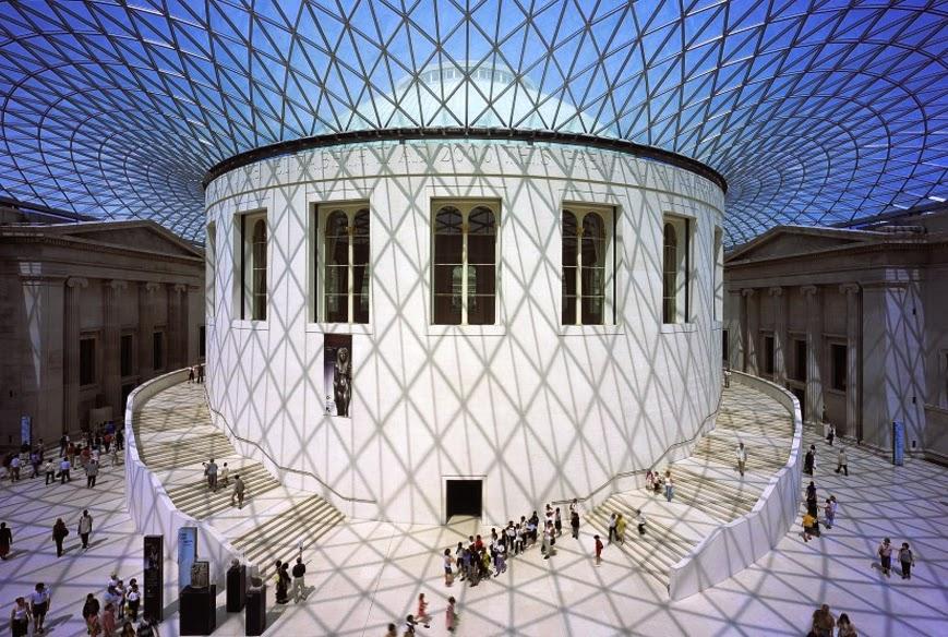 Interior do Museu Britânico de Londres
