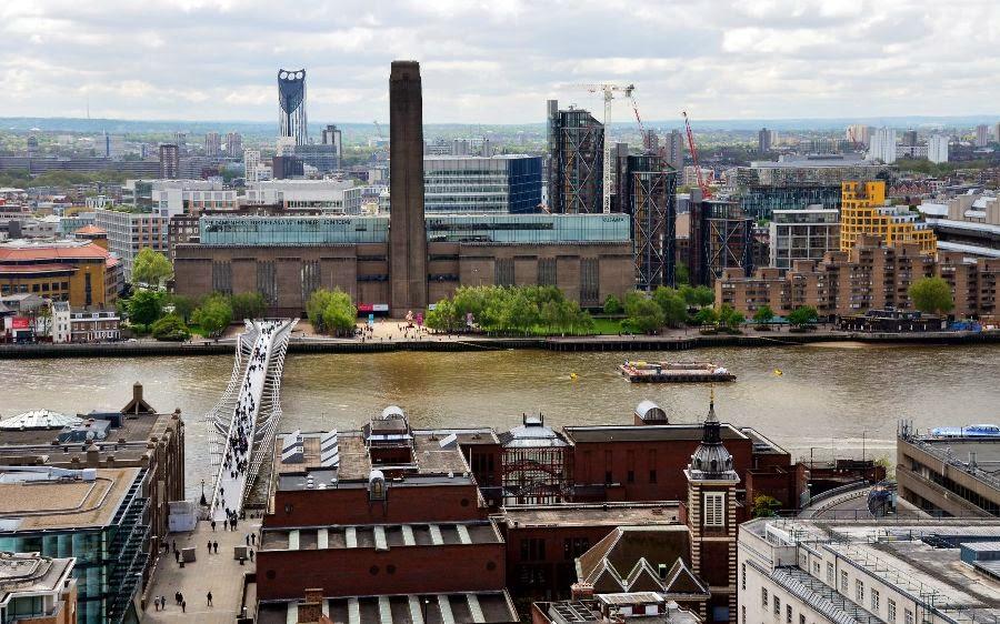Museu Tate Modern em Londres visto de fora