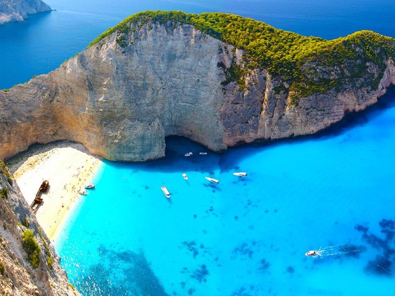 Ilha de Zaquintos na Grécia