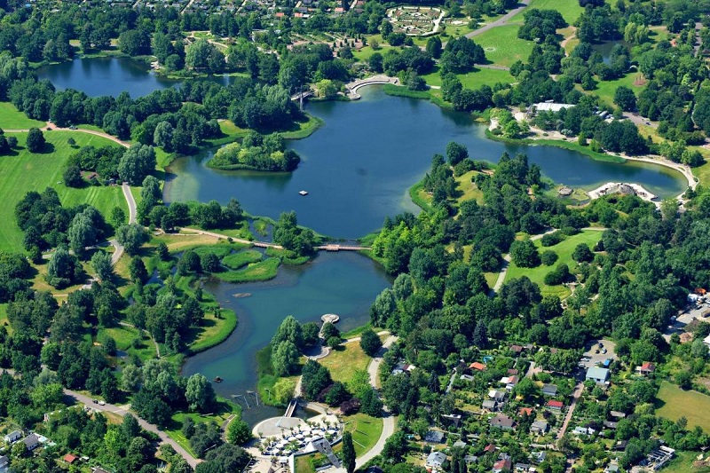 Parque Britzer Garten em Berlim | Alemanha
