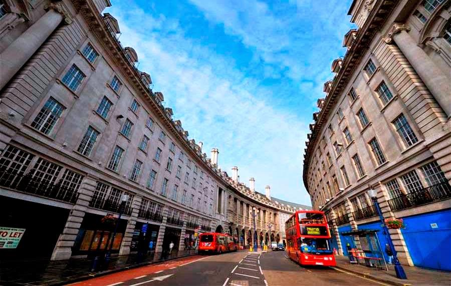 Estabelecimentos na Rua Regent Street em Londres