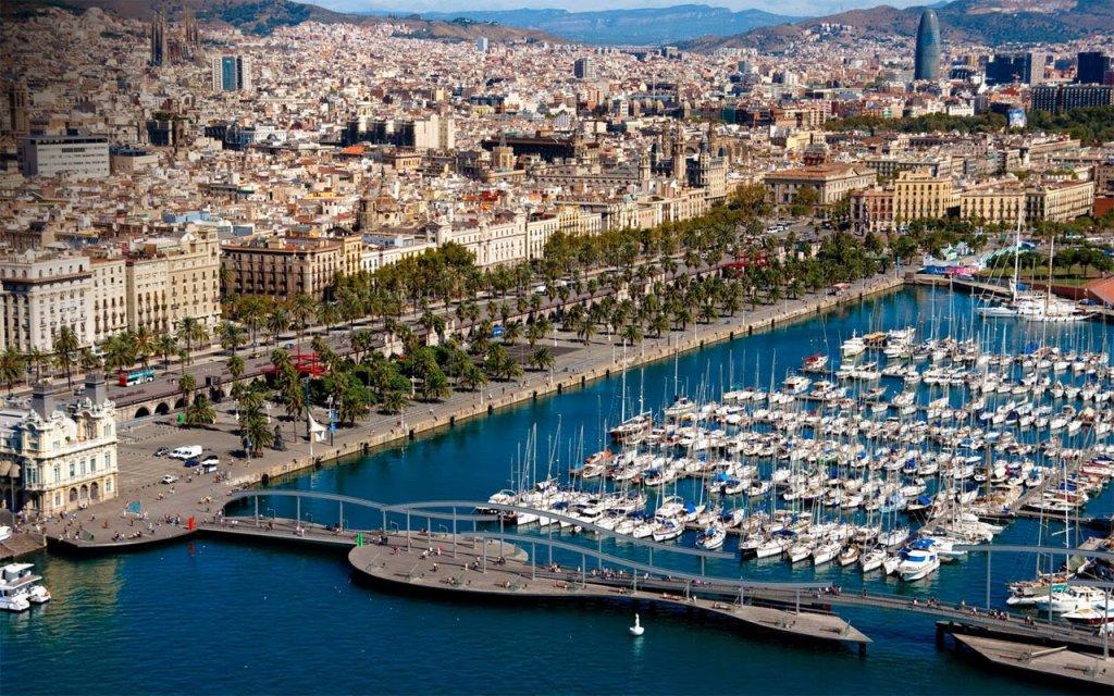 Vista da cidade de Barcelona