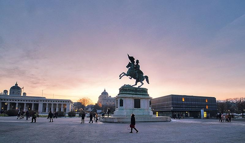 Praça Heldenplatz em Viena | Áustria