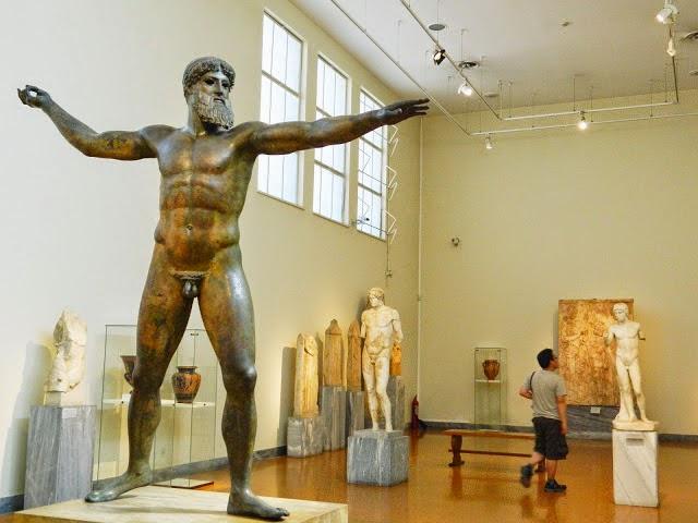 Obra exposta no Museu Arqueológico Nacional de Atenas