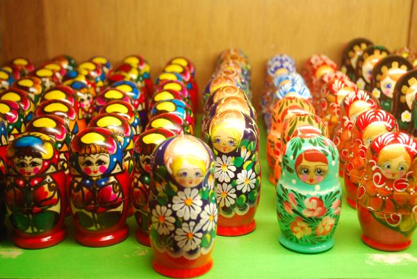Bonecas expostas no Museu do Brinquedo em Bruxelas