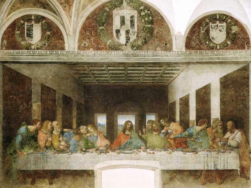 Última Ceia na Santa Maria della Grazie em Milão