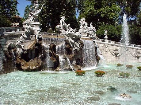 Fonte do Parco del Valentino em Turim