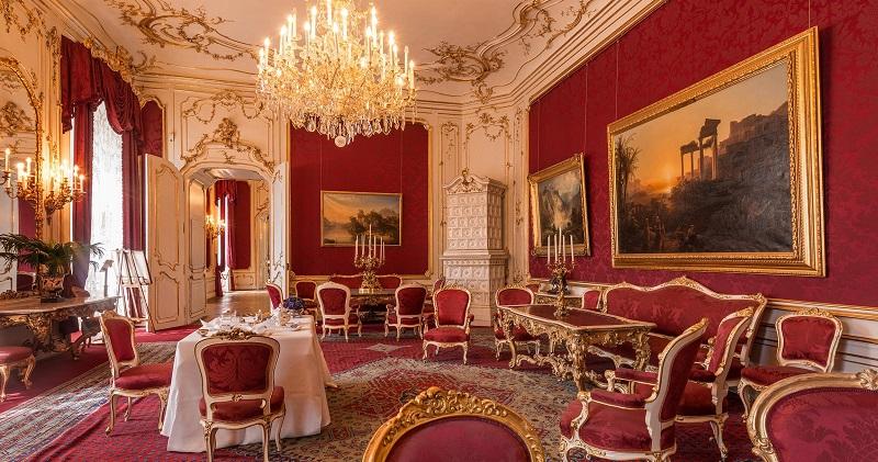 Decoração do Palácio Imperial de Hofburg em Viena