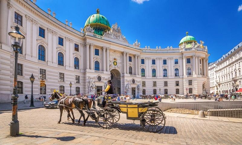 Palácio Imperial de Hofburg em Viena   Áustria