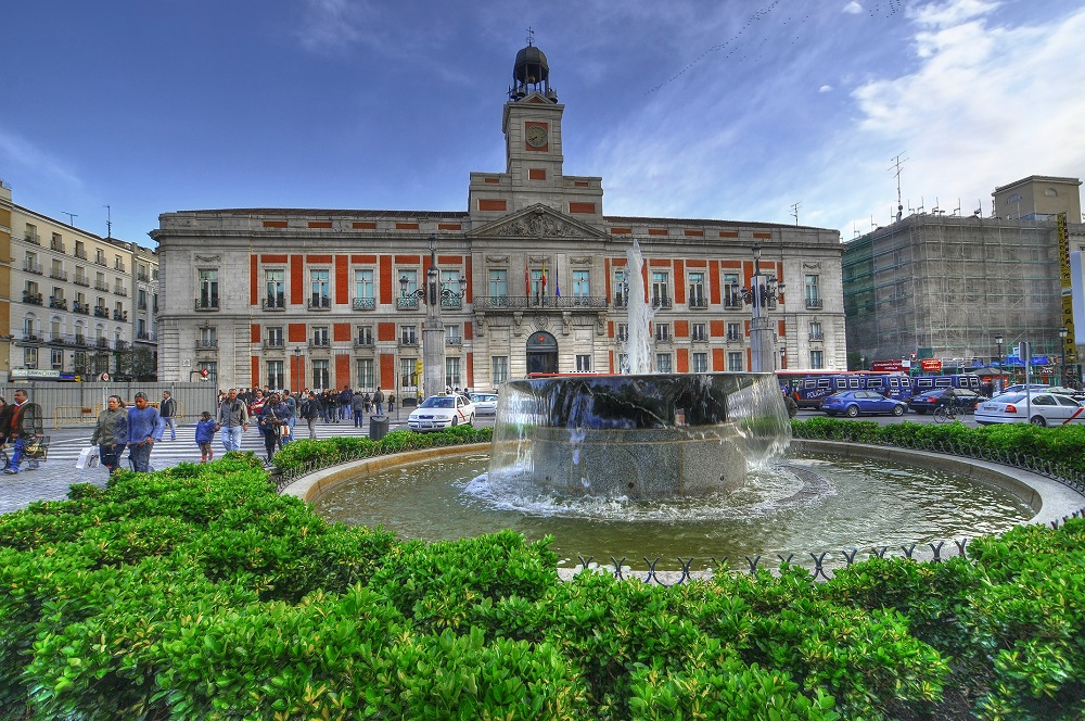 Praça Puerta del Sol de Madri