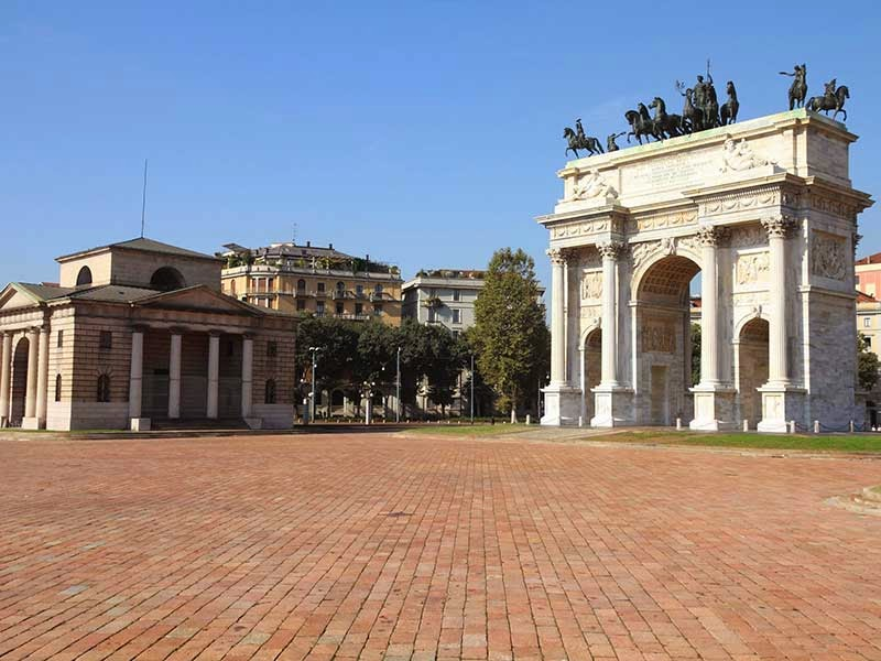 Arco della Pace em Milão na Itália