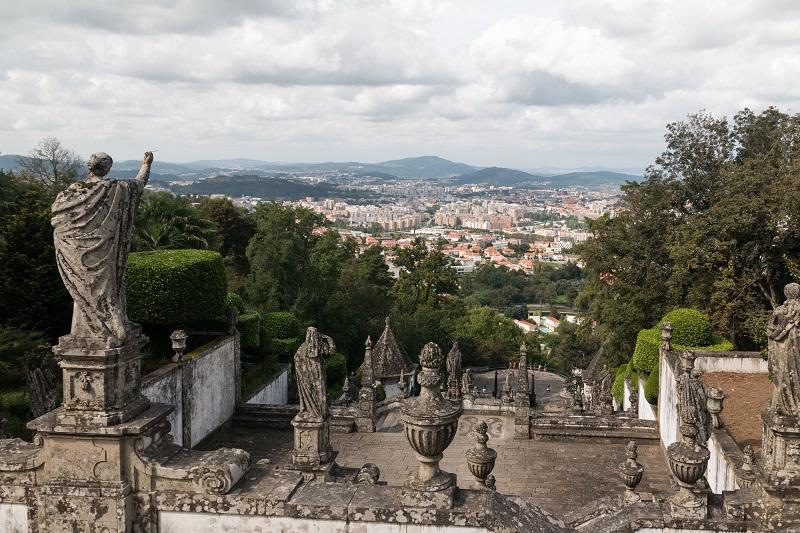 Vista Santuário do Bom Jesus do Monte em Braga