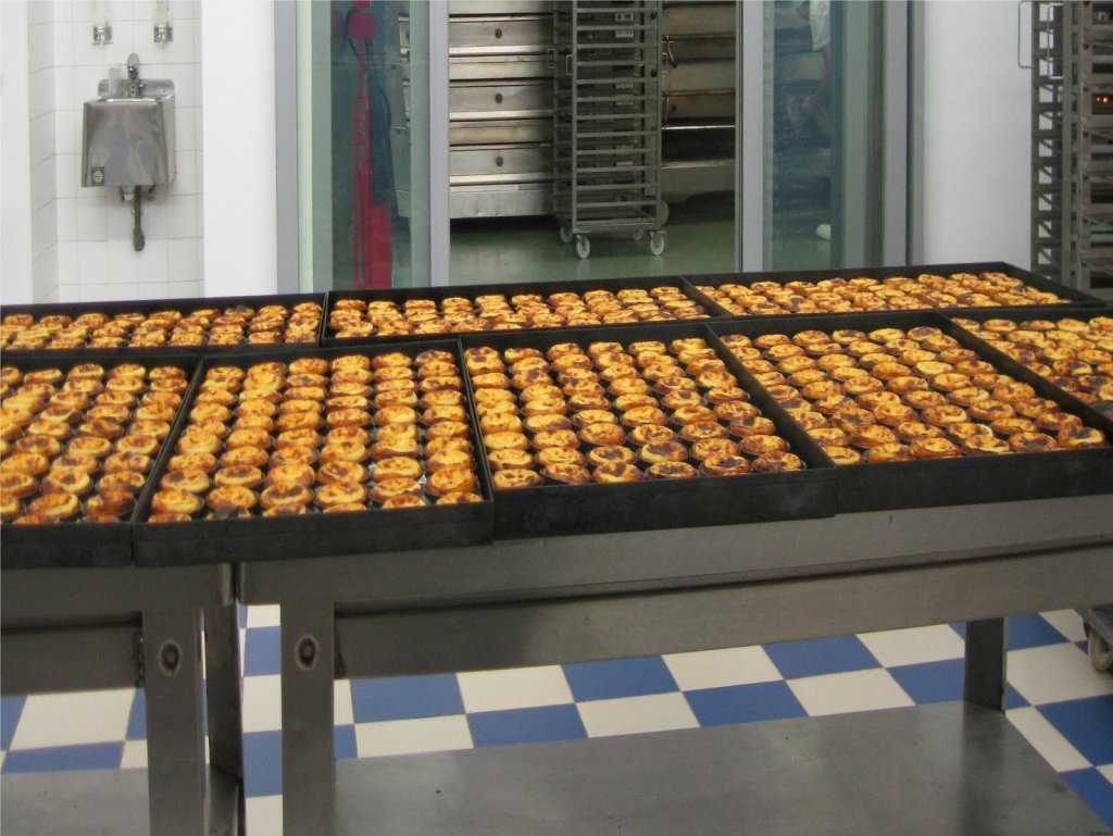 Pastéis de Belém preparados no restaurante