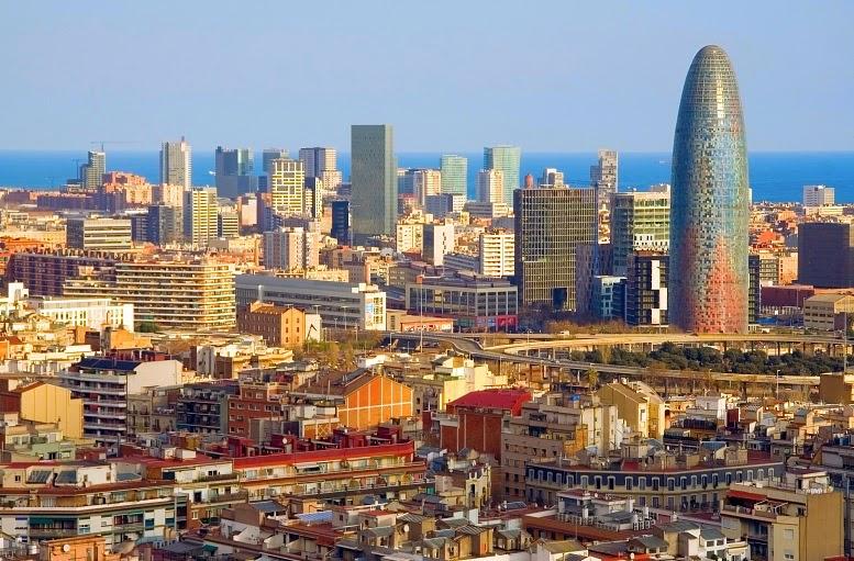 Vista de cidade da Espanha