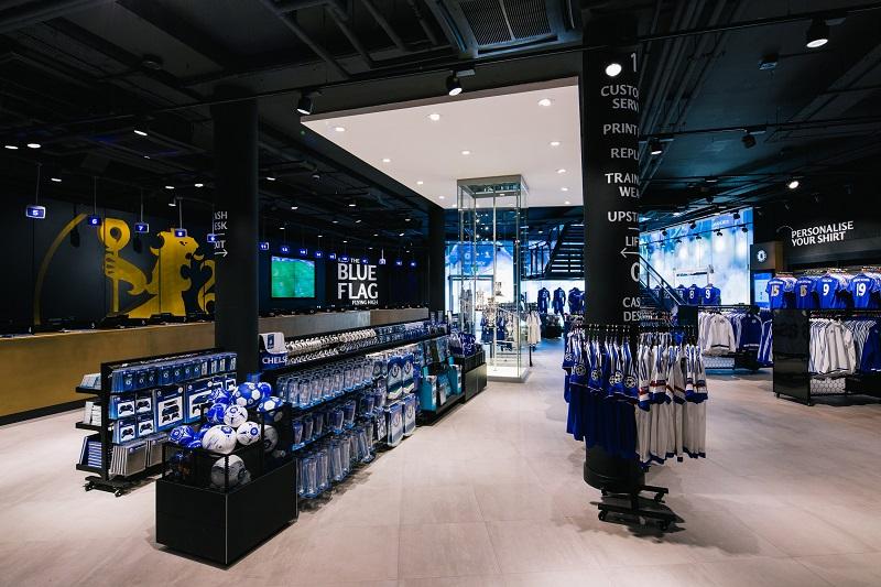 Loja no interior do estádio Stamford Bridge do Chelsea