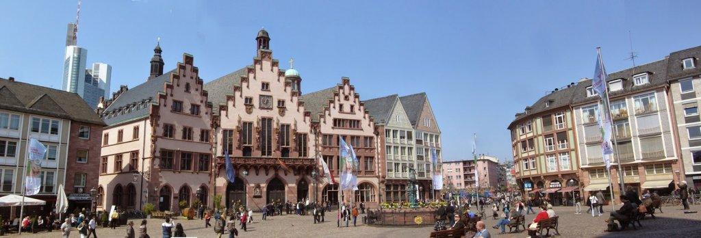 Movimento de pessoas em Frankfurt