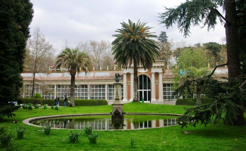 Lago no Real Jardín Botánico em Madri