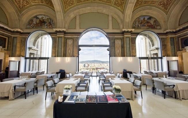 Restaurante Oleum no Museu Nacional de Arte da Catalunha em Barcelona
