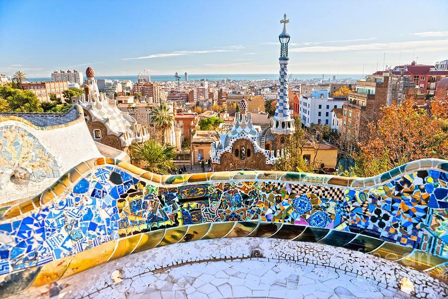 Vista do Parque Guell em Barcelona