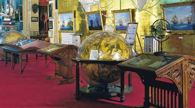 Exposição no Museu Naval em Madri na Espanha